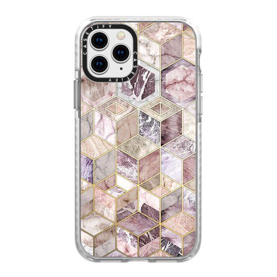 iPhone 11 Pro Cases - Blush Quartz Honeycomb