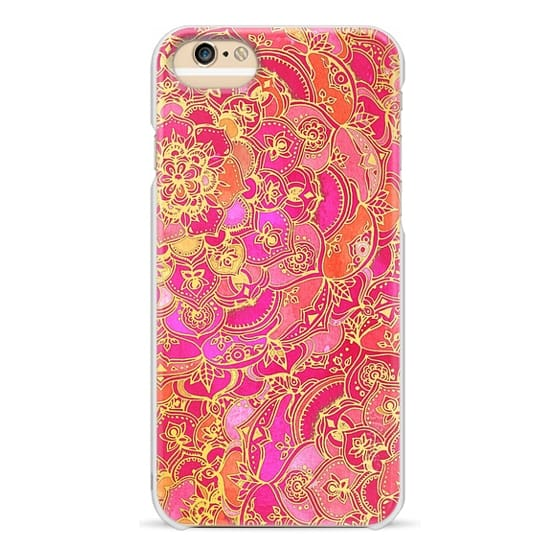iPhone 6s Cases - Hot Pink and Gold Baroque Floral Pattern