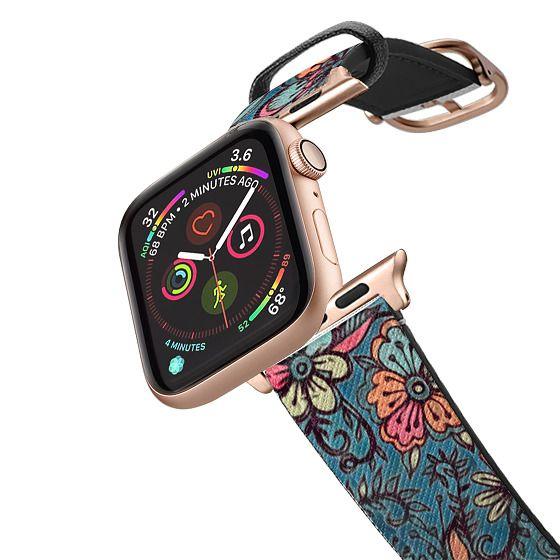 Apple Watch 42mm Bands - Sweet Spring Floral - melon pink, butterscotch & teal