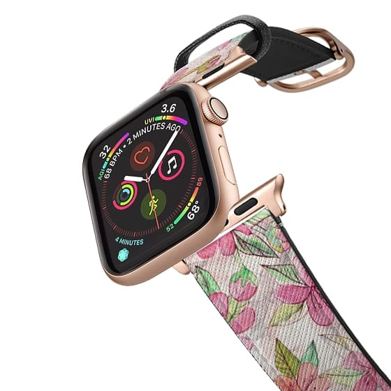 Apple Watch 38mm Bands - Hand Drawn & Painted Pink Vintage Blossoms