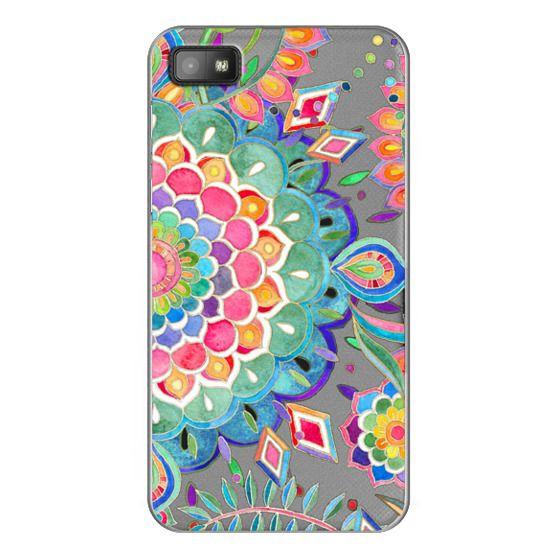 Blackberry Z10 Cases - Color Celebration Mandala - clear
