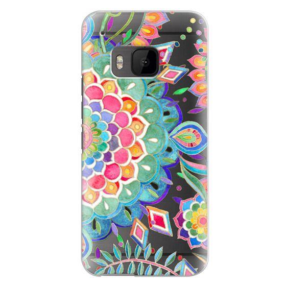 Htc One M9 Cases - Color Celebration Mandala - clear