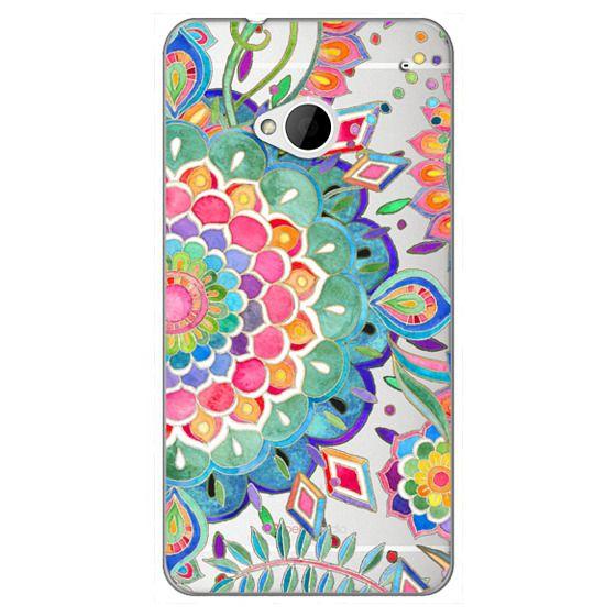 Htc One Cases - Color Celebration Mandala - clear