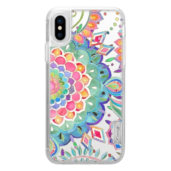 iPhone X Cases - Color Celebration Mandala - clear