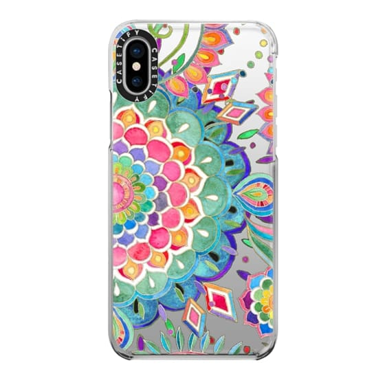 iPhone X Cases - Color Celebration Mandala - clear