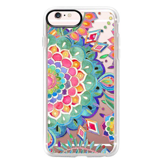 iPhone 6s Plus Cases - Color Celebration Mandala - clear