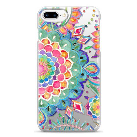 iPhone 7 Plus Cases - Color Celebration Mandala - clear
