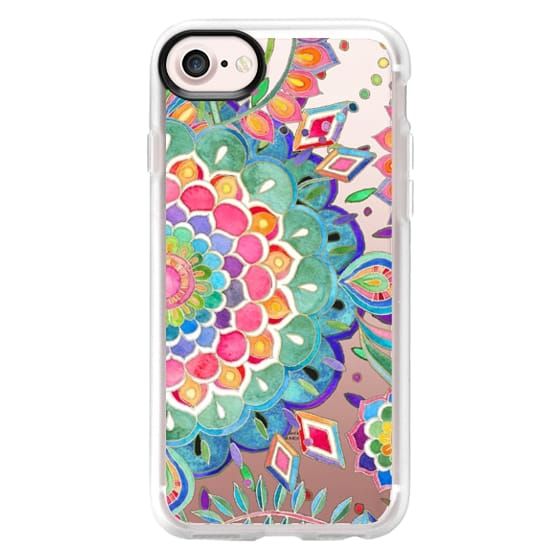 iPhone 7 Cases - Color Celebration Mandala - clear