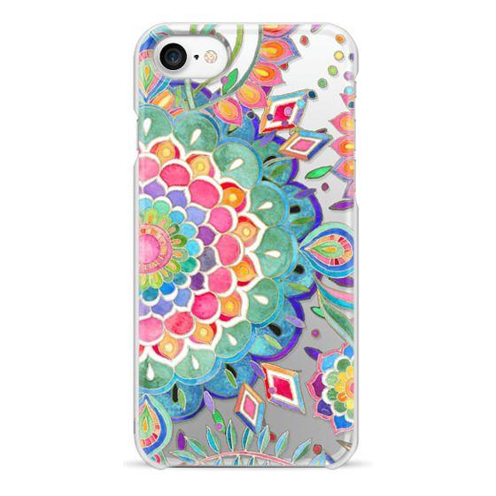 iPhone 7 Cases - Color Celebration Mandala - clear