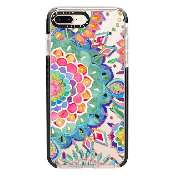 iPhone 8 Plus Cases - Color Celebration Mandala - clear