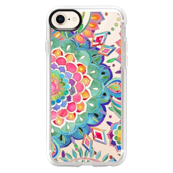 iPhone 8 Cases - Color Celebration Mandala - clear