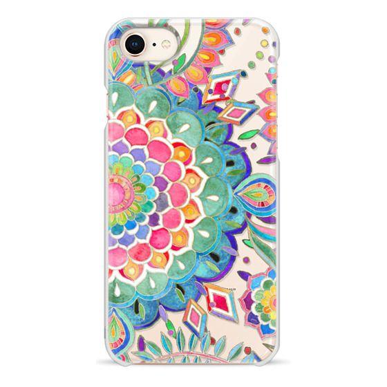 iPhone 8 Cases - Color Celebration Mandala - clear