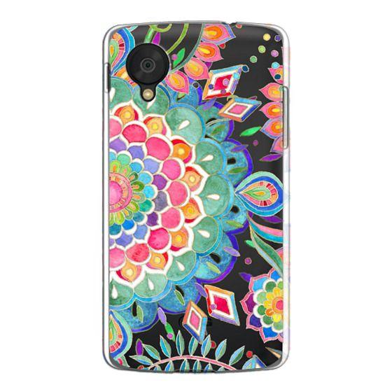 Nexus 5 Cases - Color Celebration Mandala - clear