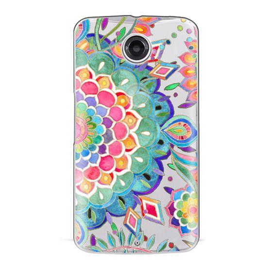 Nexus 6 Cases - Color Celebration Mandala - clear