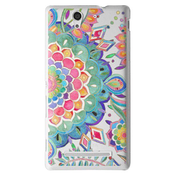 Sony C3 Cases - Color Celebration Mandala - clear