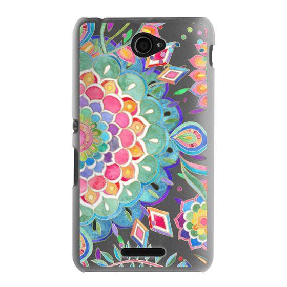 Sony E4 Cases - Color Celebration Mandala - clear