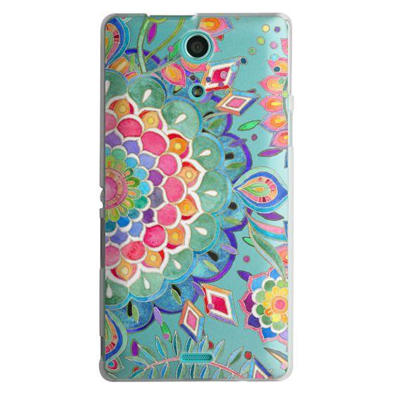 Sony Zr Cases - Color Celebration Mandala - clear