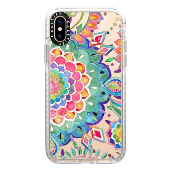 iPhone XS Cases - Color Celebration Mandala - clear