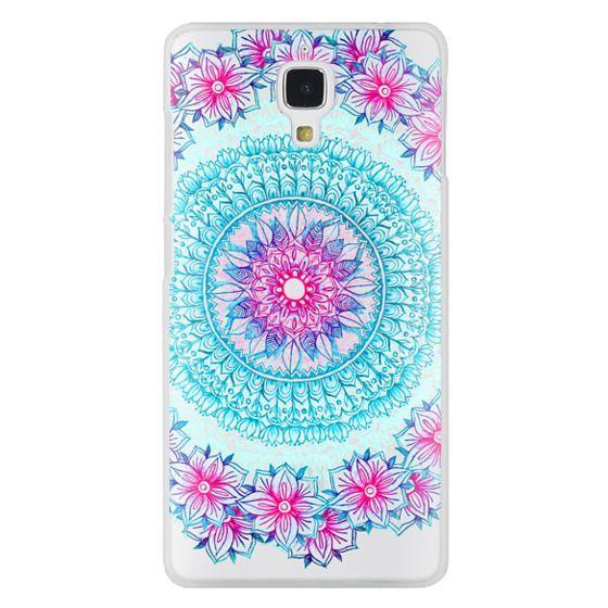 Centered Pink & Teal Floral Mandala