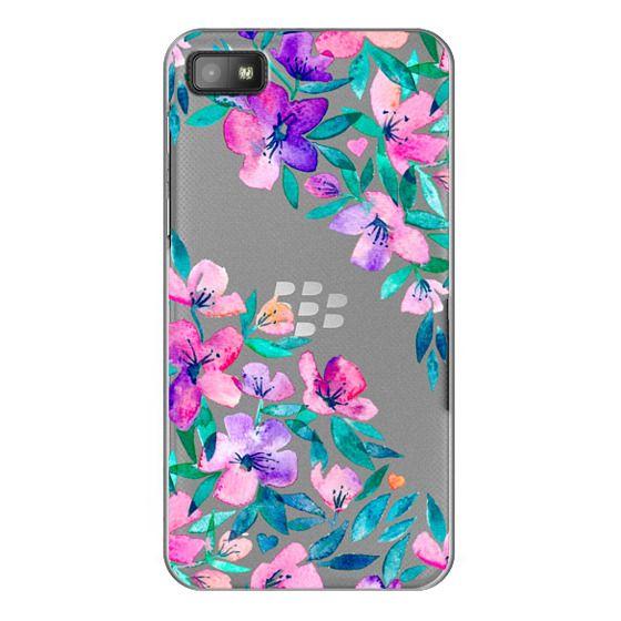 Blackberry Z10 Cases - Midsummer Floral 2 - translucent