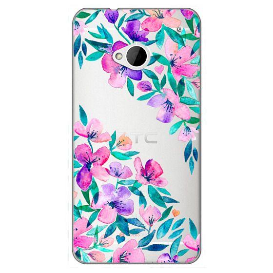 Htc One Cases - Midsummer Floral 2 - translucent