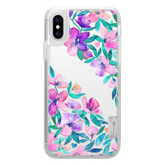 iPhone X Cases - Midsummer Floral 2 - translucent