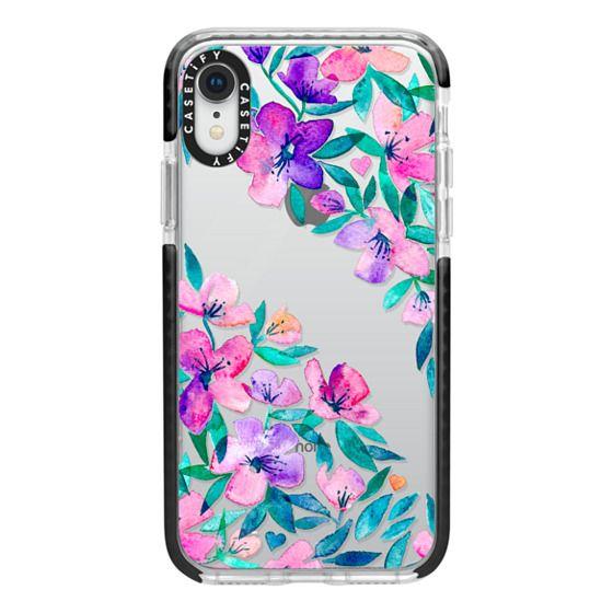 iPhone XR Cases - Midsummer Floral 2 - translucent