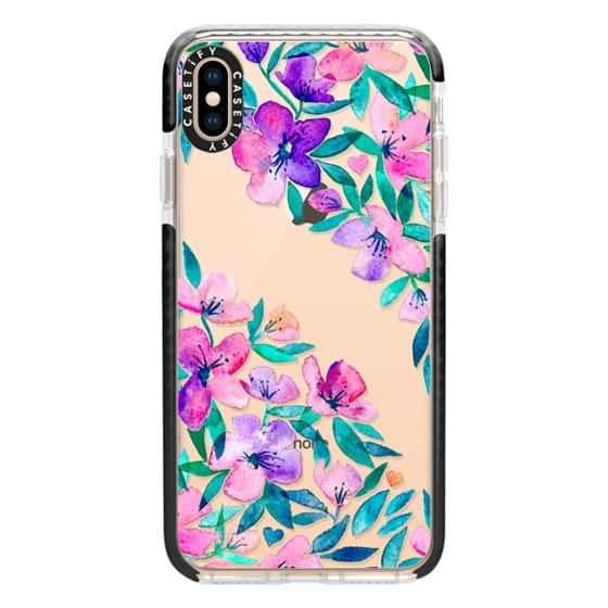 iPhone XS Max Cases - Midsummer Floral 2 - translucent