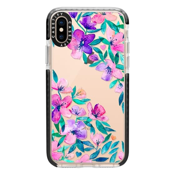 iPhone XS Cases - Midsummer Floral 2 - translucent