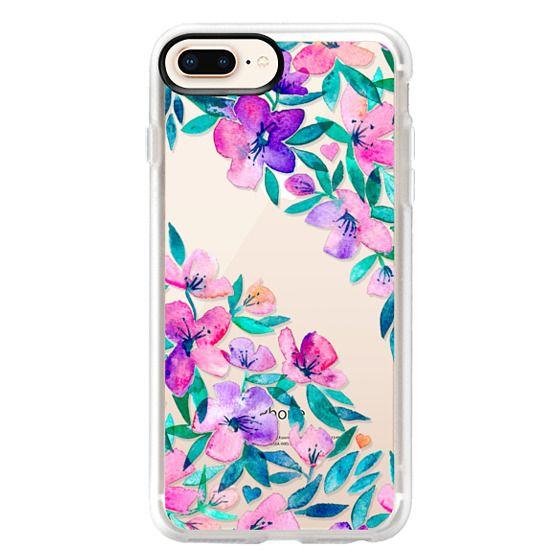 iPhone 8 Plus Cases - Midsummer Floral 2 - translucent