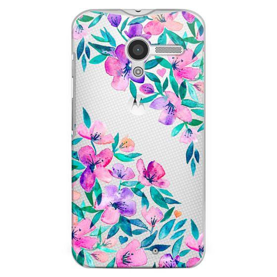 Moto X Cases - Midsummer Floral 2 - translucent