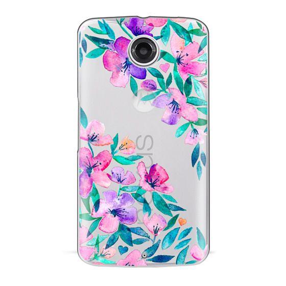 Nexus 6 Cases - Midsummer Floral 2 - translucent