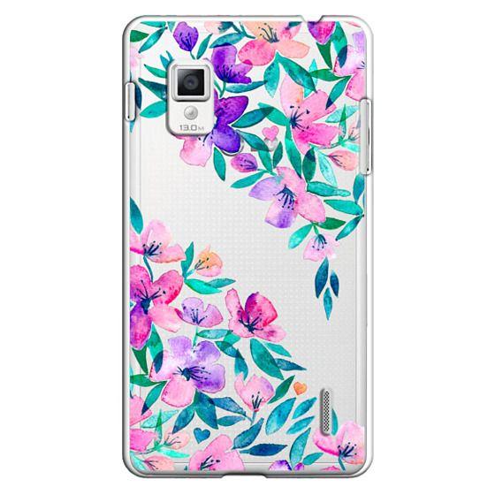 Optimus G Cases - Midsummer Floral 2 - translucent