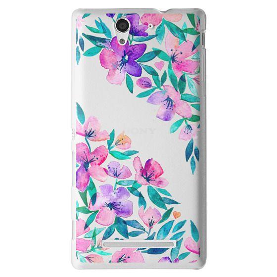 Sony C3 Cases - Midsummer Floral 2 - translucent