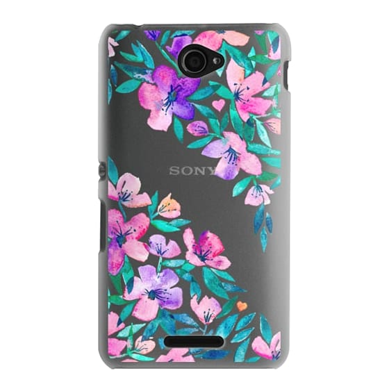 Sony E4 Cases - Midsummer Floral 2 - translucent