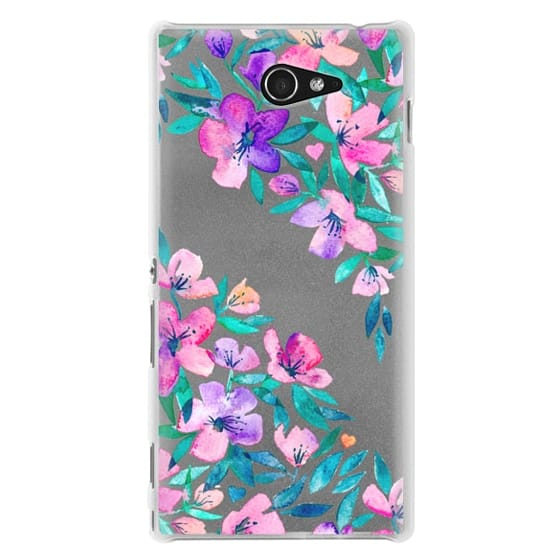 Sony M2 Cases - Midsummer Floral 2 - translucent