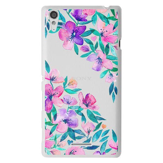 Sony T3 Cases - Midsummer Floral 2 - translucent