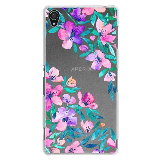 Sony Z3 Cases - Midsummer Floral 2 - translucent