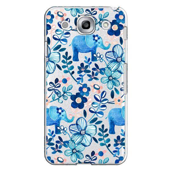Optimus G Pro Cases - Little Blue Elephant Watercolor Floral on Transparent