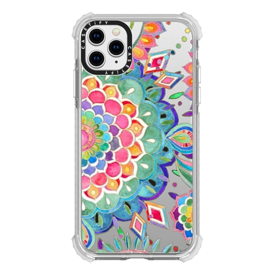 iPhone 11 Pro Max Cases - Color Celebration Mandala - clear