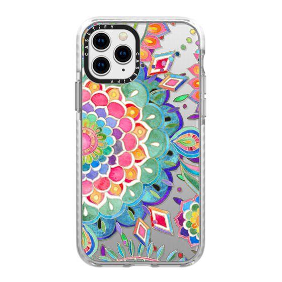 iPhone 11 Pro Cases - Color Celebration Mandala - clear
