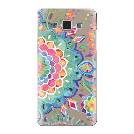Samsung Galaxy A5 Cases - Color Celebration Mandala - clear