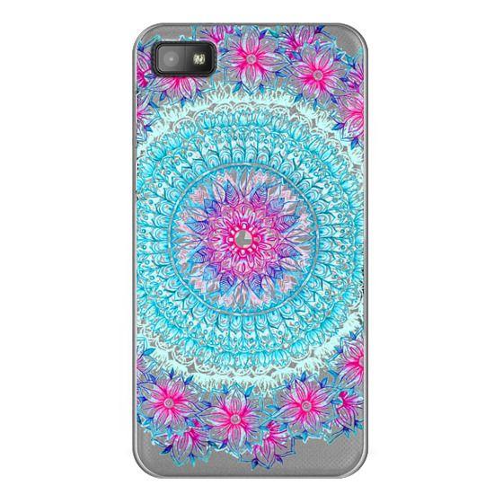 Blackberry Z10 Cases - Centered Pink & Teal Floral Mandala