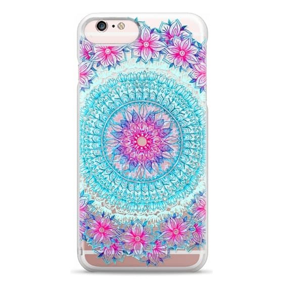 iPhone 6s Plus Cases - Centered Pink & Teal Floral Mandala