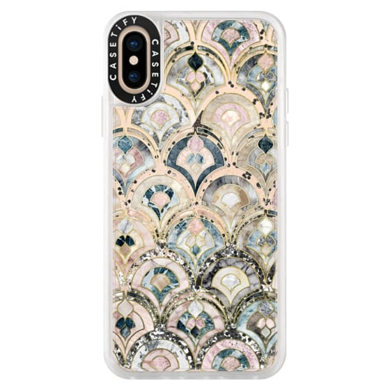 iPhone XS Cases - Art Deco Marble Tiles in Soft Pastel on transparent 2