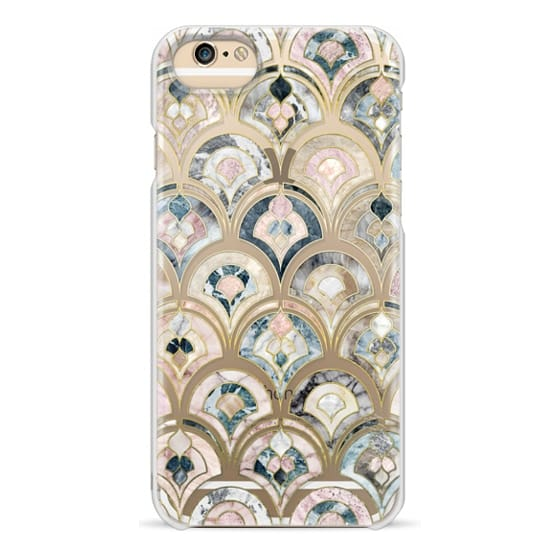 iPhone 6s Cases - Art Deco Marble Tiles in Soft Pastel on transparent 2