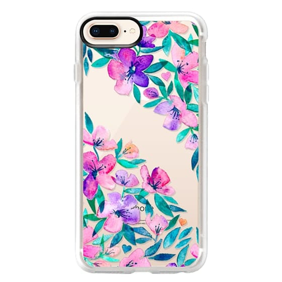 iPhone 8 Plus Cases - Midsummer Floral 2 - translucent