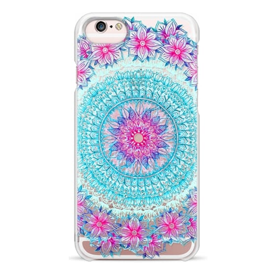 iPhone 6s Cases - Centered Pink & Teal Floral Mandala