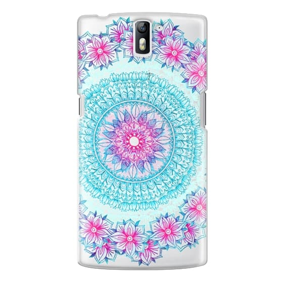 One Plus One Cases - Centered Pink & Teal Floral Mandala