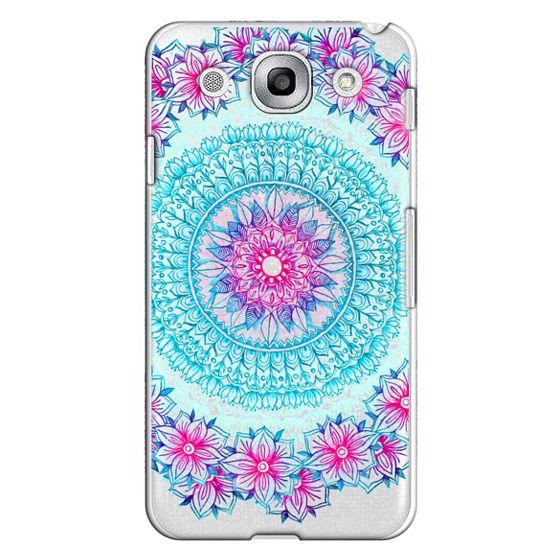 Optimus G Pro Cases - Centered Pink & Teal Floral Mandala